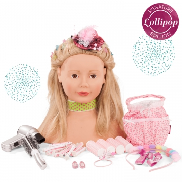 Styling head Lollipop, blonde by Gotz