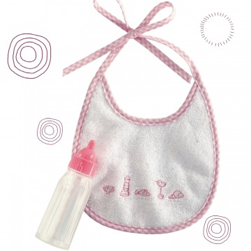 Nursing bottle with bib