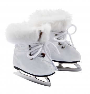Ice skating boots, white