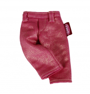Pink glittery jeans
