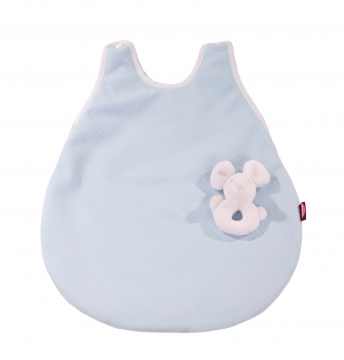 Sleeping bag with cuddly mouse, blue