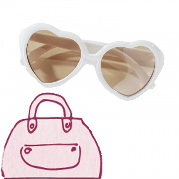 Sunglasses Heart S/M/L/XL