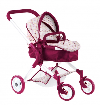 Doll's pram, happy flower