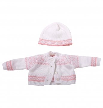 Knitted ensemble Norway, pink S