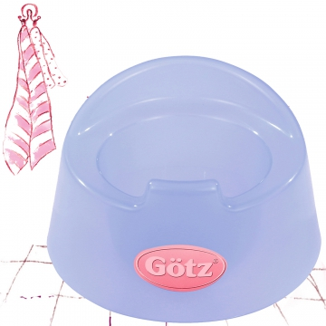 Potty transparent blue
