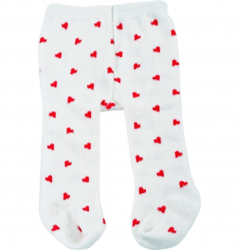 Tights red hearts size M