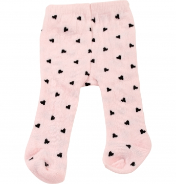 Tights pink hearts size M/L/XL