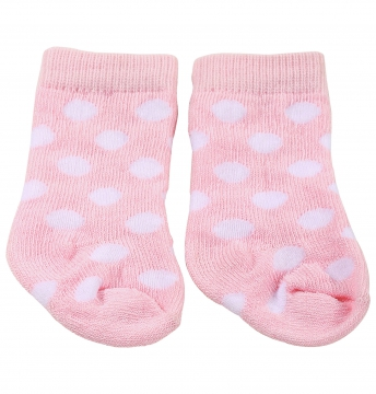 Pink socks white spots
