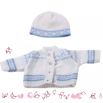 Knitted ensemble Norway, blue size S