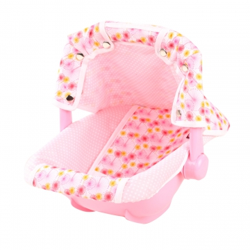 Baby Carry Cot Pink Polka Dots