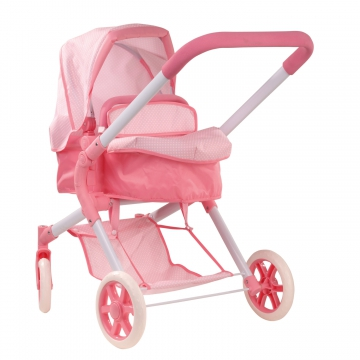 All-rounder Doll's Pram Spotty Pink