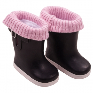 rubber boots winter knit size M/XL