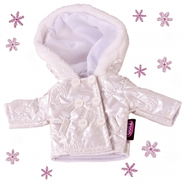 Winter jacket Silver Bows in size XS
