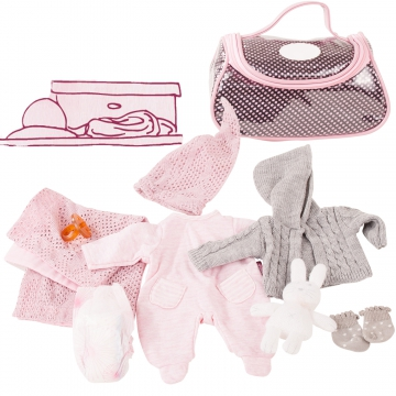 Large baby set Cosy Rabbit size S