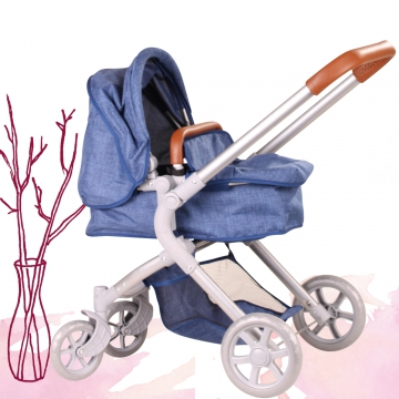 Doll's pram 2 in 1 Denim