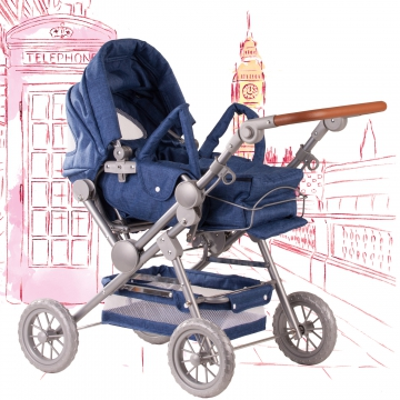Doll's pram Denim