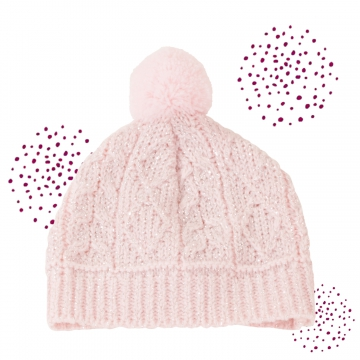 Knitted hat Glitter Plait size S/M/XL