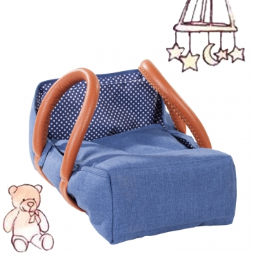 Travel Cot Denim & Spots