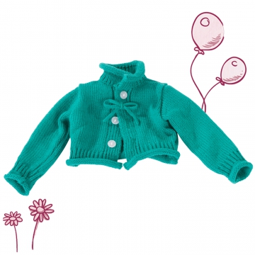 Strickjacke petrol Gr. M/XL