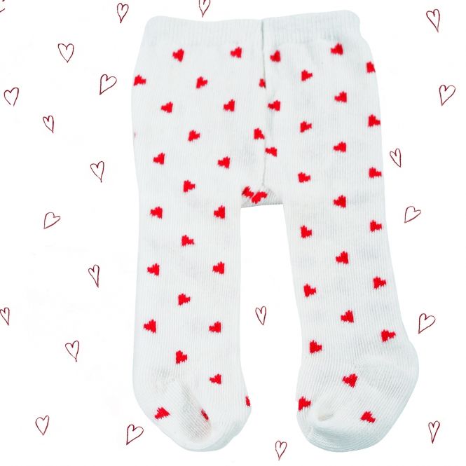 Tights red hearts size S