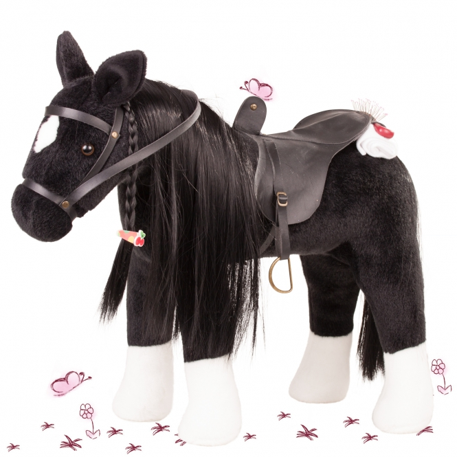 Pony to brush and style Black horse