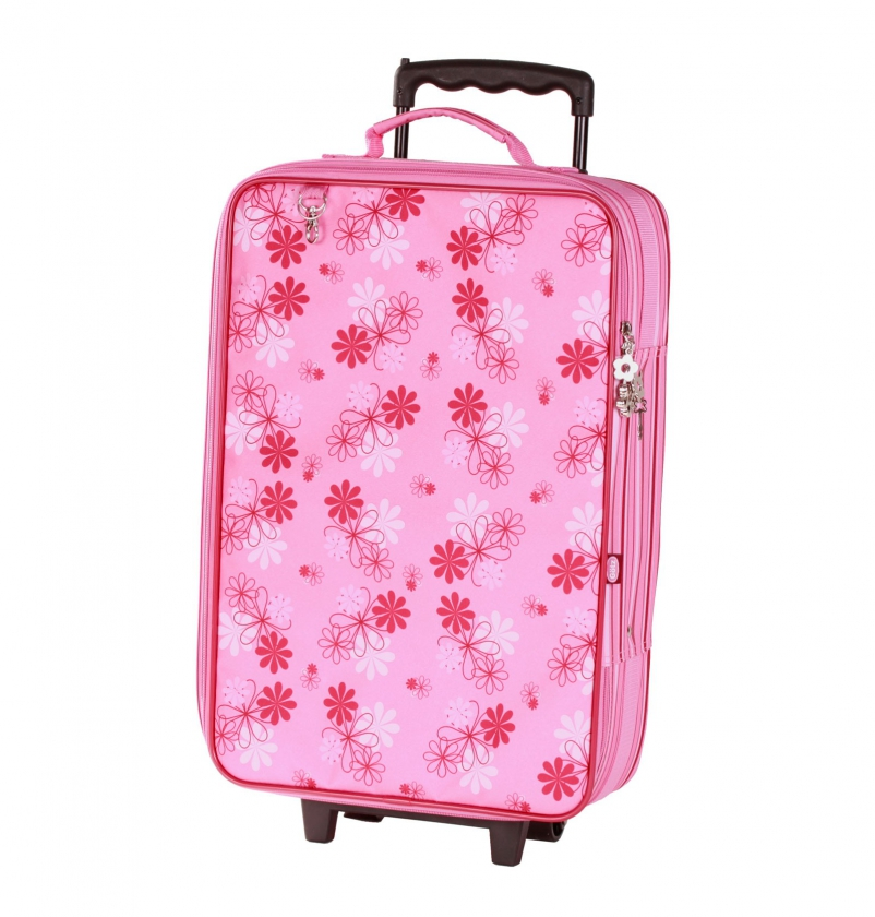 Flowery trolley case