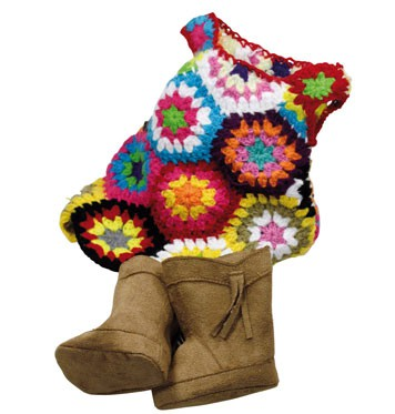Knitted dress and boots