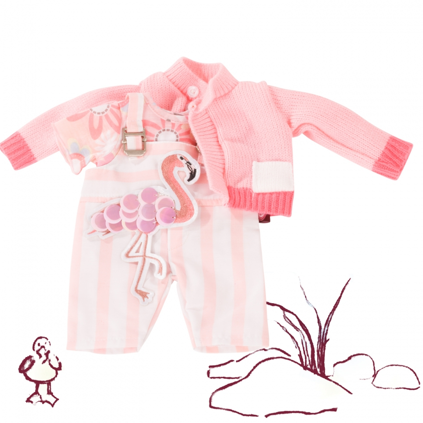 Baby combo Pretty Flamingo size S