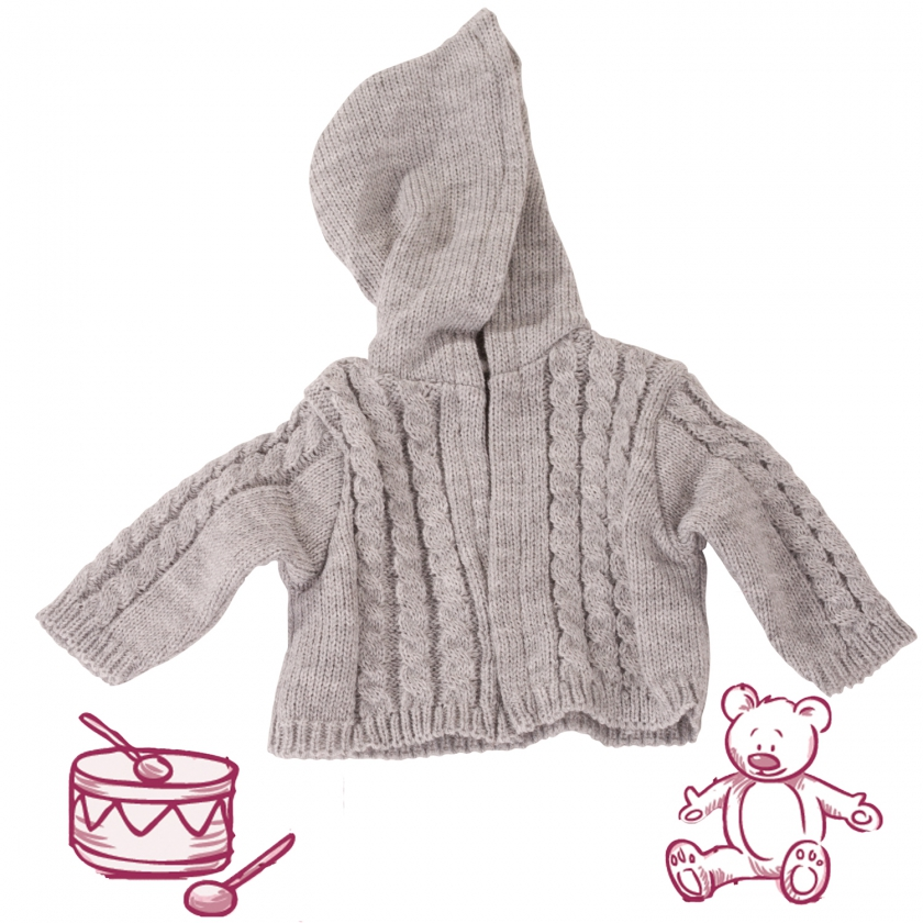 Knitted jacket Mouse size L