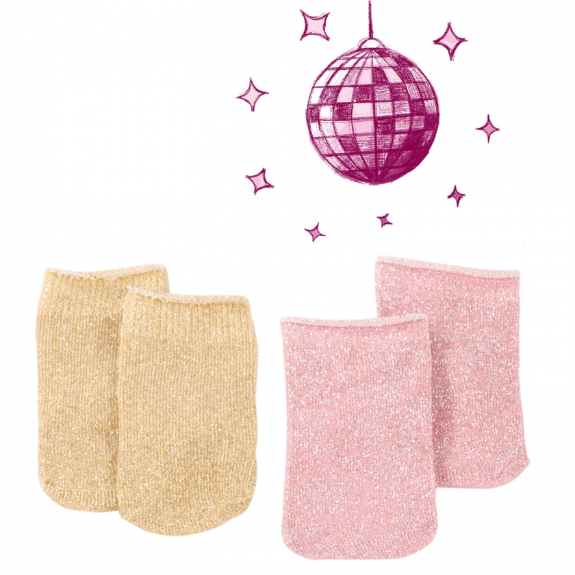 Set Glitzersocken, Gr. M/XL