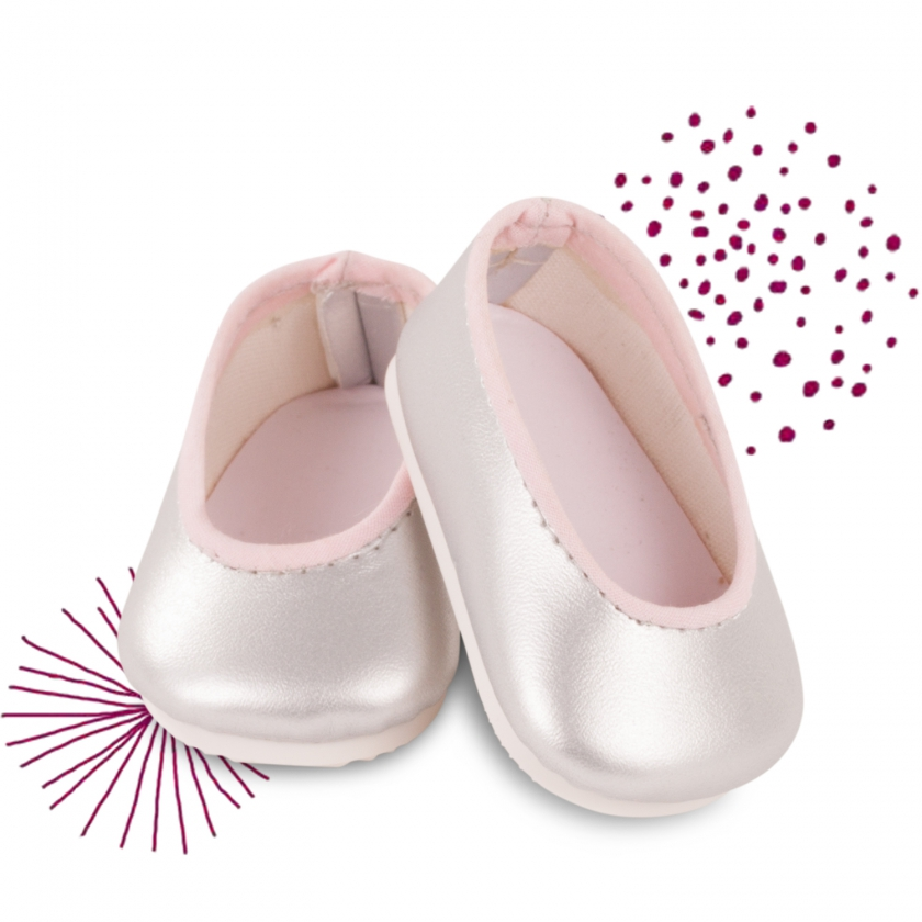 Ballerina shoes silver-pink size M/XL