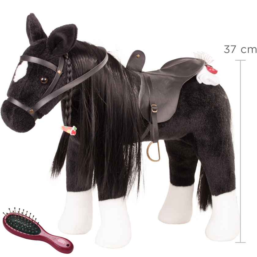 Pony to brush and style Black horse Max