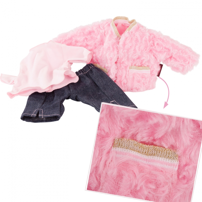 Baby combo Furry Pink size M